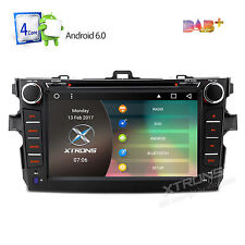 "8"" Quad Core Android 6.0 Car Radio DVD GPS Player For Toyota Corolla 2007-2011"