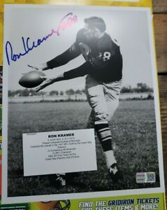 RON KRAMER AUTOGRAPH SIGNED 8X10 PHOTO COA GREEN BAY PACKERS