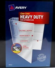 """Office 2 Lot Of Avery Heavy Duty 4"""" Binder Clear Cover Slanted D Ring 1560 Sheet"""