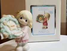 """Precious Moments """"My Hope Is In You"""" 2010 Christmas Ornament #101002 - Nib"""