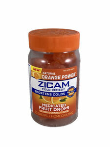 ZICAM Cold Remedy Medicated Fruit Drops Natural Orange 25 Drops Expires 12/21