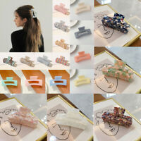 Acrylic Marble Large Hair Claw Hair Clip Clamp Ponytail Crab Hairpins Barrette #