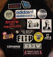 16 Skateboard Sticker Lot Vans Adidas Krew Flip Robot Guts Cliche Reds Cons