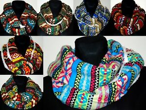 Warm soft winter scarf shawl christmas party star infinity snood loop circle