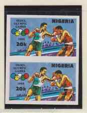 MNH OLYMPIC GAMES STAMPS ERROR 1988 NIGERIA IMPERFORATE PAIR SG 566 VARIETY