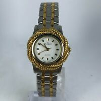 Peugeot Womens Gold Two Tone Japan Movement Analog Quartz Wristwatch
