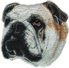 "3"" Bulldog Bull Dog Portrait Dog Breed Embroidery Patch"