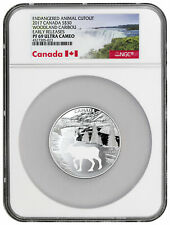 2017 Canada Endangered Animal Cutout Caribou Silver $30 NGC PF69 Early Releases
