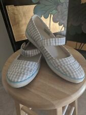 Simple Eco Sneaks, Beige&White, 7.5 Size, Mary Jane With 1 Button, Fabric