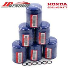 6x GENUINE 15400-PLM-A02 OIL FILTER + DRAIN WASHERS ACURA HONDA OEM