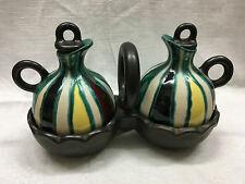 Vintage French Céramic art pottery Huile Vinaigre céramique G Fourmaintraux 60's