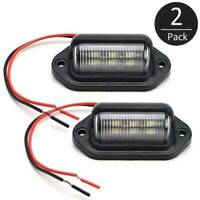 2pc 6SMD LED License Number Plate Light Lamps for Truck SUV Trailer Lorry 12/24V