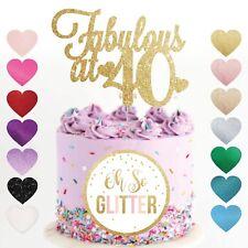 40th Cake Topper, fabulous at 40 forty 30,50,60, 40 glitter cake topper custom