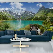 VLIES FOTOTAPETE Selbstklebend XXL SEE Berge Wald Landschaft 3D Tapeten 4037