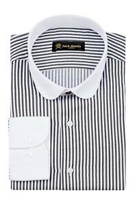 Jack Martin - Peaky Blinders Style - Black & White Bengal Stripe Slim Fit Shirt