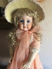 ANTIQUE REPRODUCTION BISQUE HEAD ARTIST DOLL-MEIN LIEBLING-COMPO.BODY-SLEEP EYES