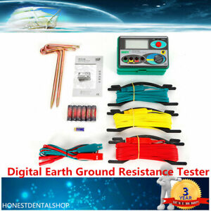 DY4100 Digital Earth Ground Resistance Tester Meter 0~20/200/2000Ω from US 2021