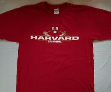 Harvard School Crimson Boston mens shirt Size Large Short Sleeve Boston Ma