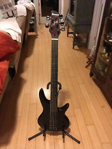 Ibanez Gary Willis Signature GWB35 Fretless Bass Guitar - Black Flat