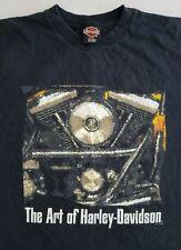 Harley Davidson T-Shirt Men's XL Black Motorcycle Monterrey Mexico Motor Z9