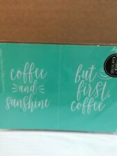 New Chalk Couture reusable Transfer COFFEE AND SUNSHINE & BUT FIRST COFFEE 5 X 7