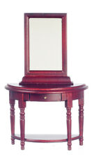 DOLLHOUSE MINIATURES HALL TABLE WITH MIRROR T3575 1:12
