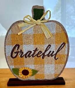 Grateful Table Top Centerpiece Thanksgiving