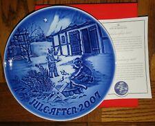 New Listing2007 B&G Bing & Grondahl Christmas Plate Christmas in Countryside Nib Mint