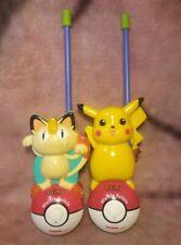 WORKING Pokemon Walkie Talkie Set (Pikachu & Meowth) - 1999 TIGER Electronics