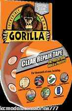 8.2m Gorilla Crystal Clear Repair Tape Adhesive Duct Tape Fixes Loads