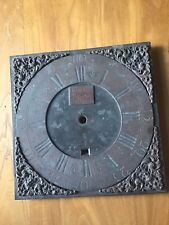 Antique Brass Longcase Clock Dial - Timothy Thorne Weymouth 11 inch