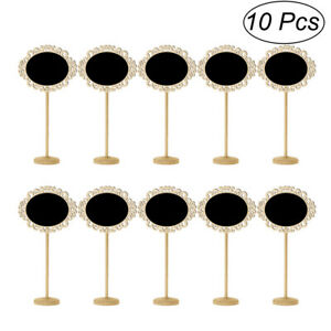 10PCS Mini Black Chalkboard Signs Message Board with Stand for Wedding Party