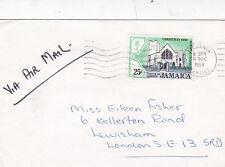 Jamaica 1980 to London Liguanea Postmark Air Mail Cover VGC