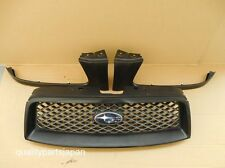 SUBARU FORESTER SG FRONT GRILL WITH HEADLIGHT TRIMS GRILLE JDM OPTION BLACK
