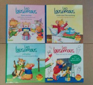 Maxi Pixi Leo Lausemaus Bilderbücher 4 Hefte Leo Lausemaus Aktionspreis TOP!