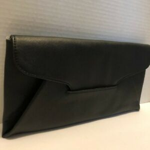 Chi Hot Iron Clutch Black Pebble Faux Leather