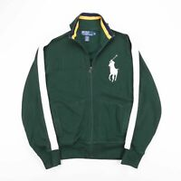 Vintage POLO RALPH LAUREN Green Track Top Zip Up Sweat Jacket Mens Size Medium