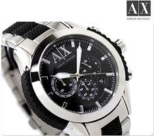 Armani Exchange Mens Black Silver Chronograph Sports Watch AX1214