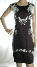 OASIS black white flower print cotton dress size 16 UK - with TAGS (rrp £65)