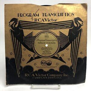 DUKE ELLINGTON Mood Indigo / Hot and Bothered VICTOR 6006 PROGRAM TRANSCRIPTION