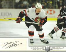2006-07 BAP PORTRAITS -  JASON SPEZZA  -  AUTOGRAPHED 8 X 10 PHOTO