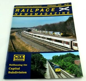 Railpace News Magazine Newsmagazine Train Illustrated Picture Info February 2000