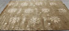 R102 Superb Hand Crafted Floral Tibetan Wool & Silk Rug 6' x 9' Made in Nepal