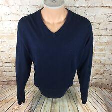 Tommy Hilfiger cachemir Suéter De Algodón Azul Marino Talla L/XL para hombres