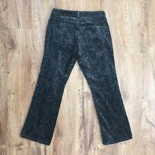 Gap Boot Cut Paisley Stretch Velvet Pants Womens Size 2 Waist 27 x Length 25.5