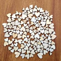 Wedding Table Confetti/Decorations Vintage Mini Mixed Sizes Wooden Hearts Craft
