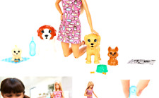 Barbie Doggy Daycare Doll, Blonde, and Pets Playset with Puppy that Poops and.