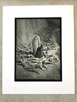 1870 Dantes Purgatory The Damned Visions von Hölle Gustave Dore Antik Aufdruck