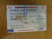 11/10/2003 Ticket: Rotherham United v Millwall [Sponsors] . Thanks for viewing o
