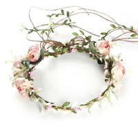 Women Boho Flowers Floral Hairband Headband Crown Party Bride Wedding Beach PMA